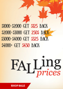 autumn bathroom design falling prices shop sale banner
