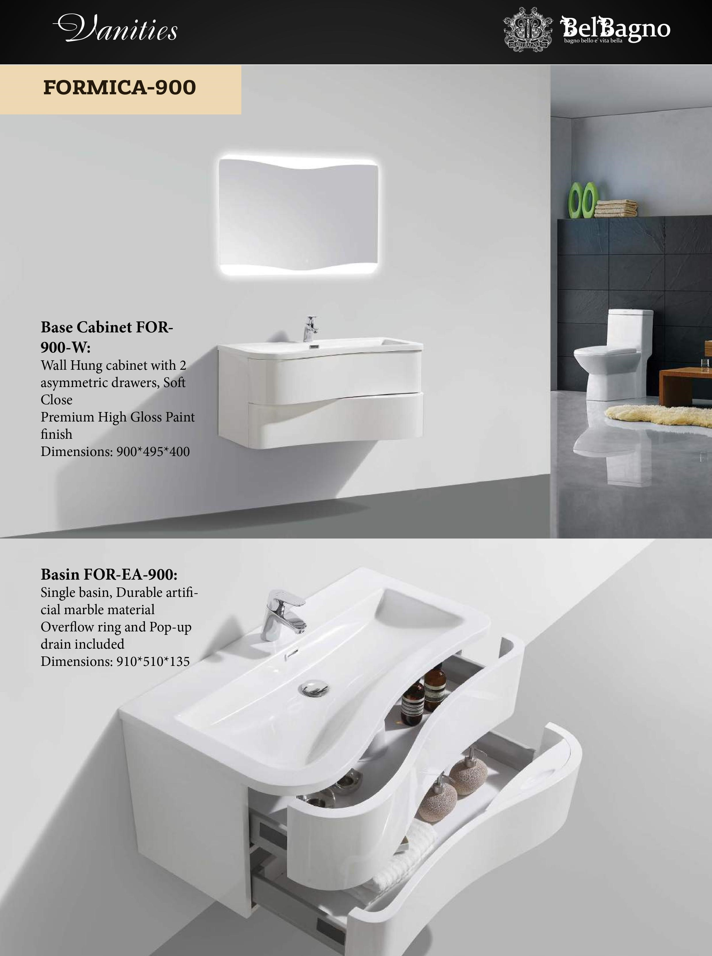 Formica bathroom vanities