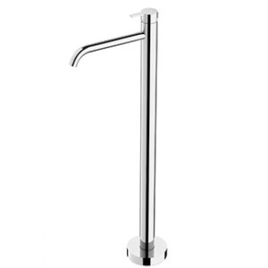 LEXI FLOOR MOUNTED BATH MIXER CURVED OUTLET